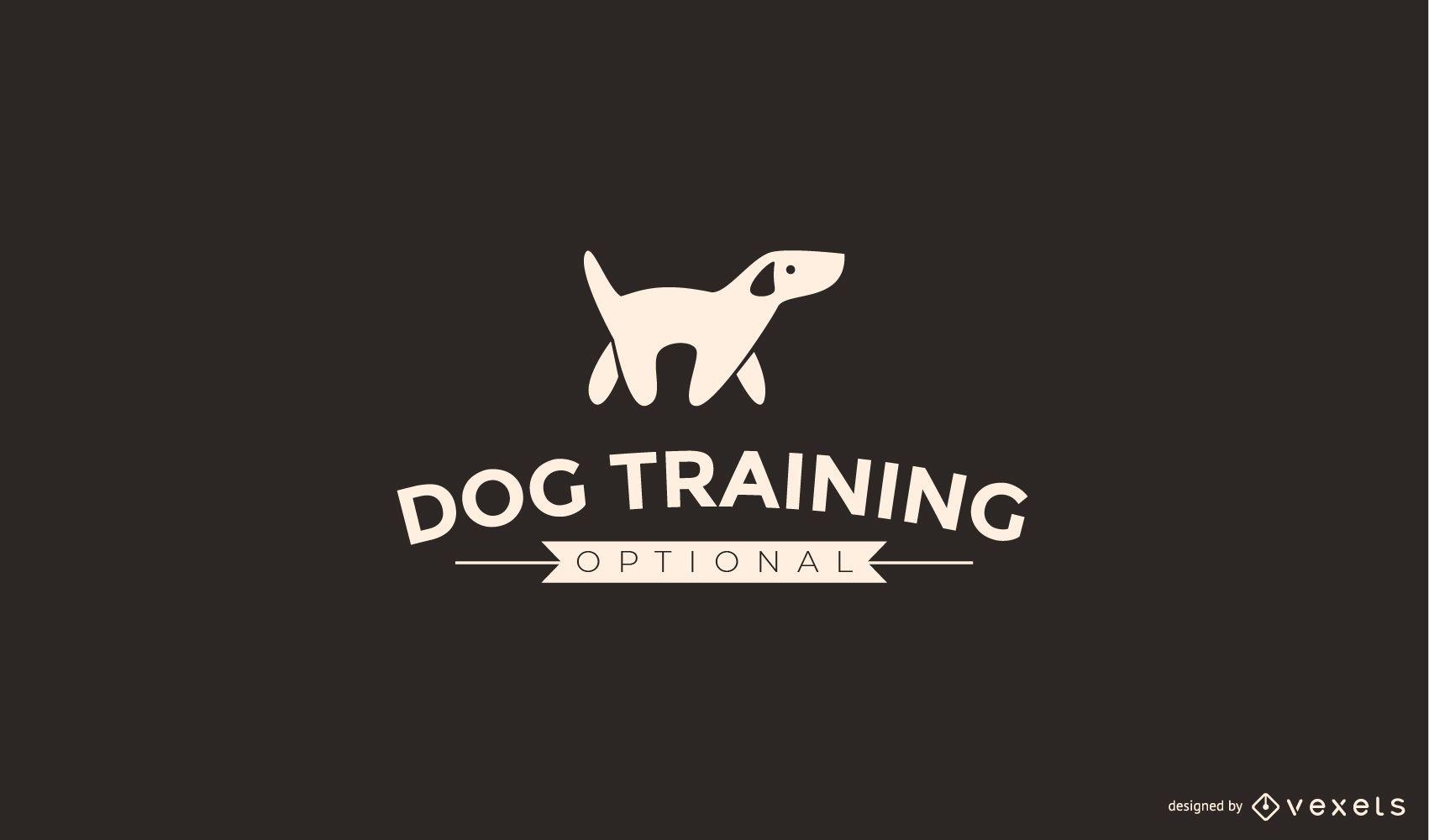 Plantilla de logotipo de entrenamiento de perros