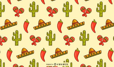 Mexican elements pattern design