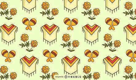Diseño de patrón de cultura mexicana