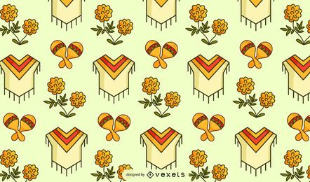 Mexican culture pattern design