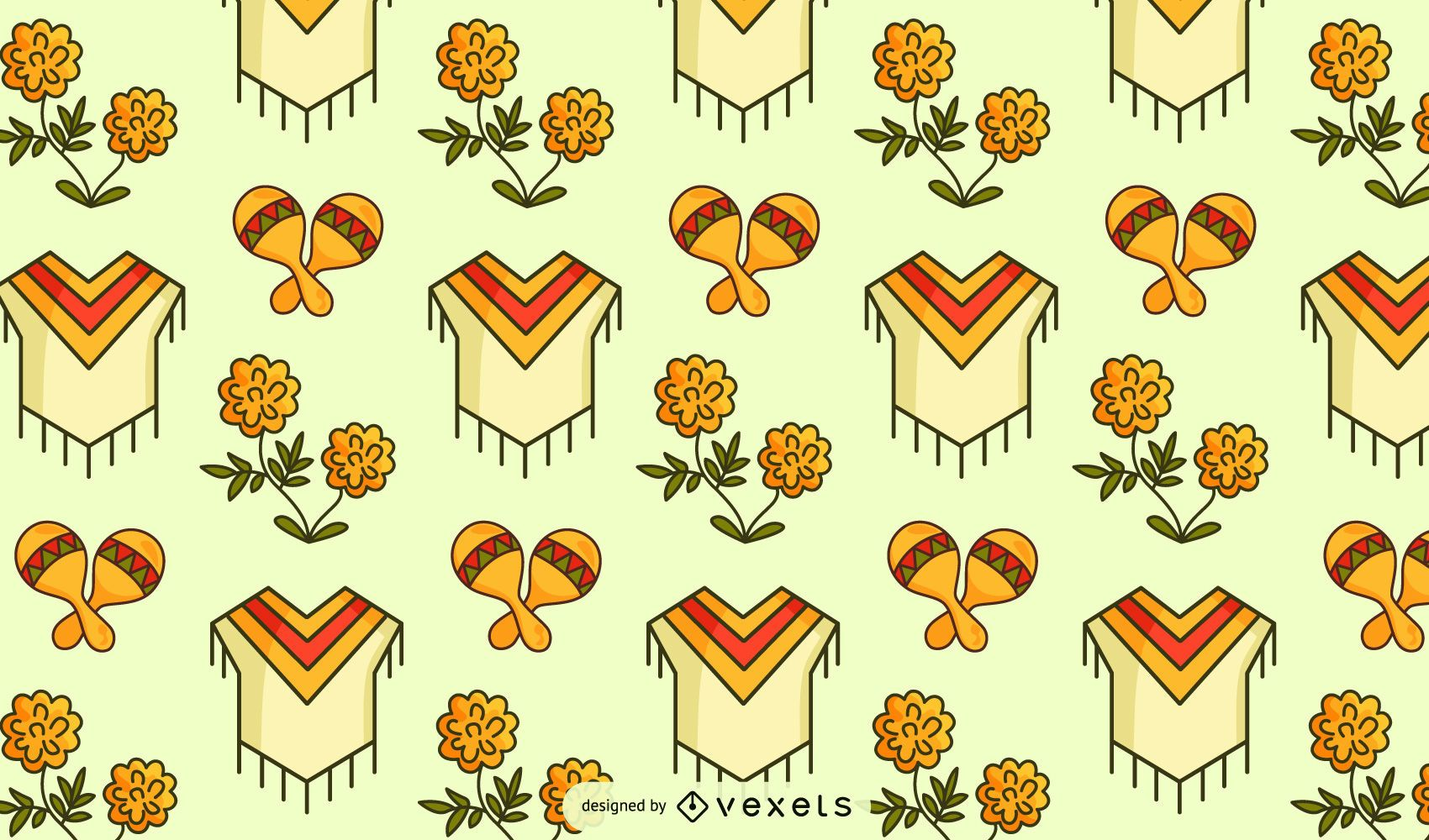Mexican culture pattern design