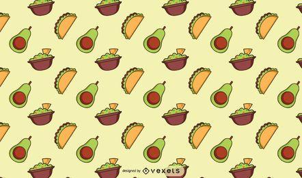 Design de padrão de comida mexicana