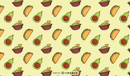 Mexican food pattern design