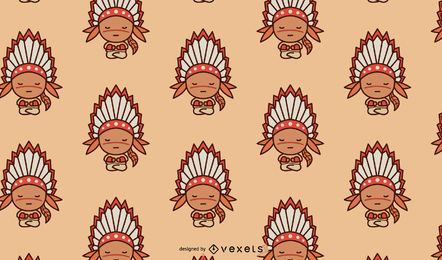 Design bonito de padrão nativo americano