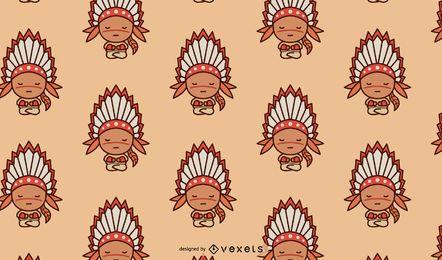 Niedlicher amerikanischer Ureinwohner-Muster-Entwurf
