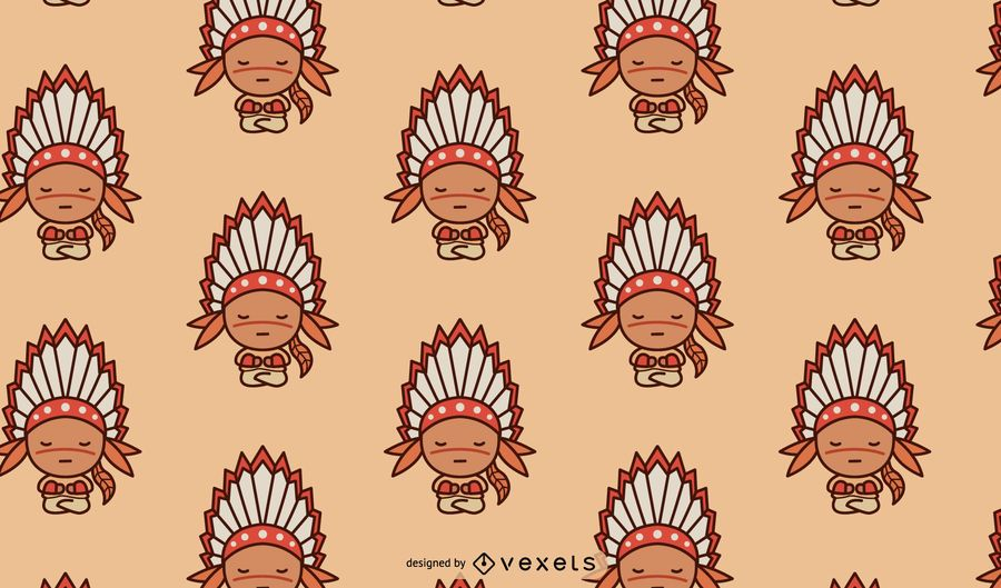 Cute Native American Pattern Design