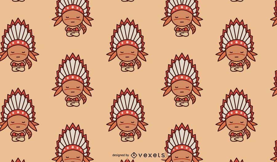 Diseño lindo del patrón del nativo americano