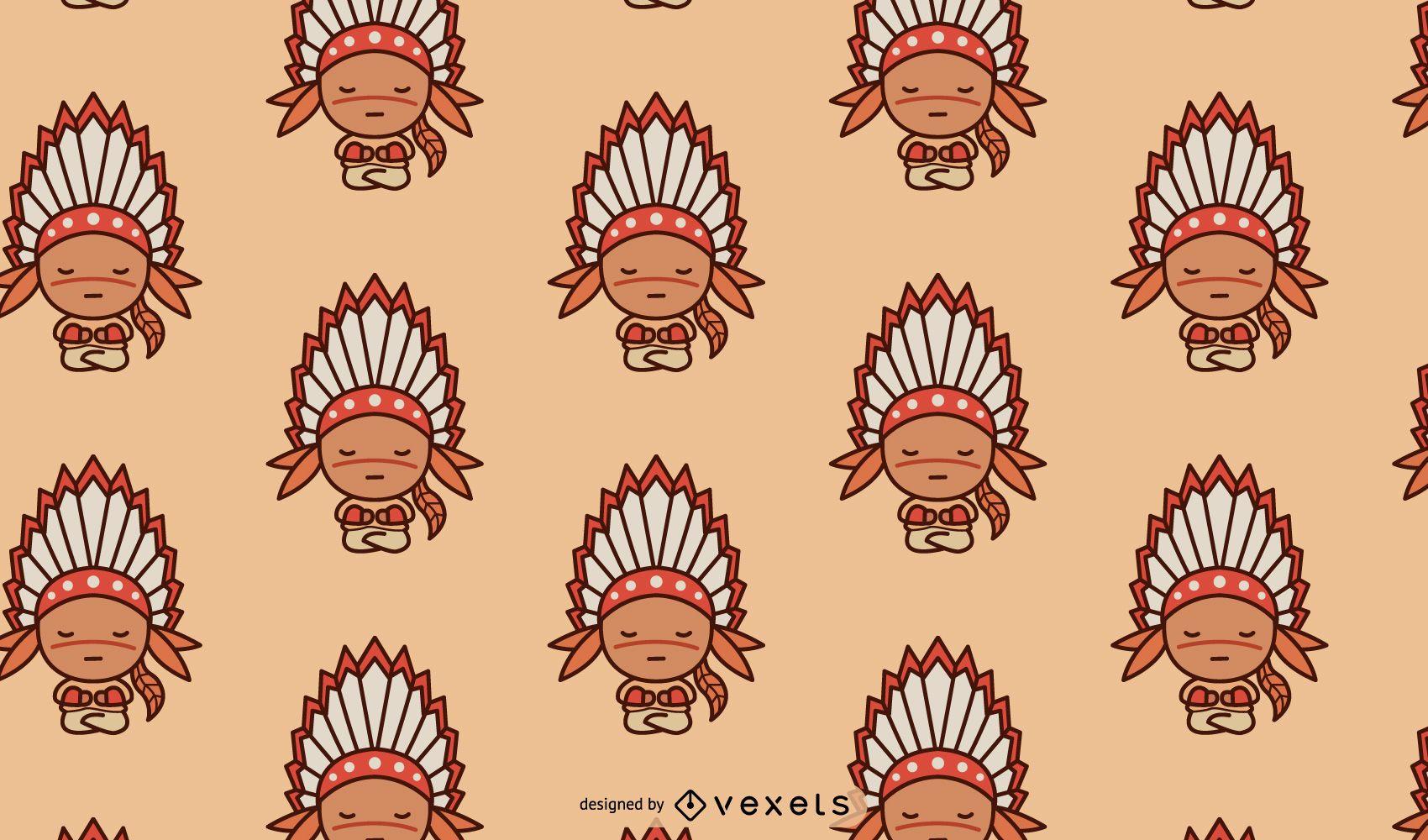 Cute Native American Pattern Design