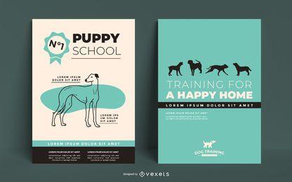 Plantilla de póster de entrenamiento de perros