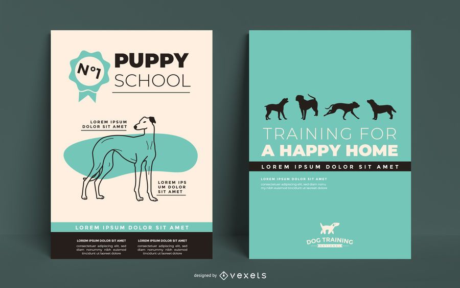 Dog training poster template