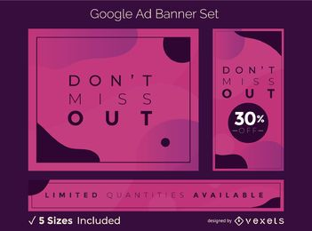 Kreativer abstrakter Google Ads Banner Set