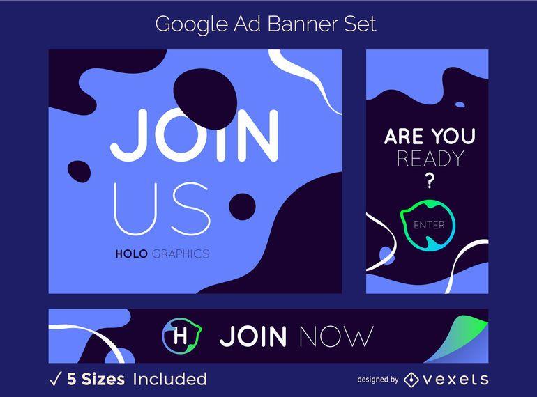 Conjunto de banners creativos de Google Ads