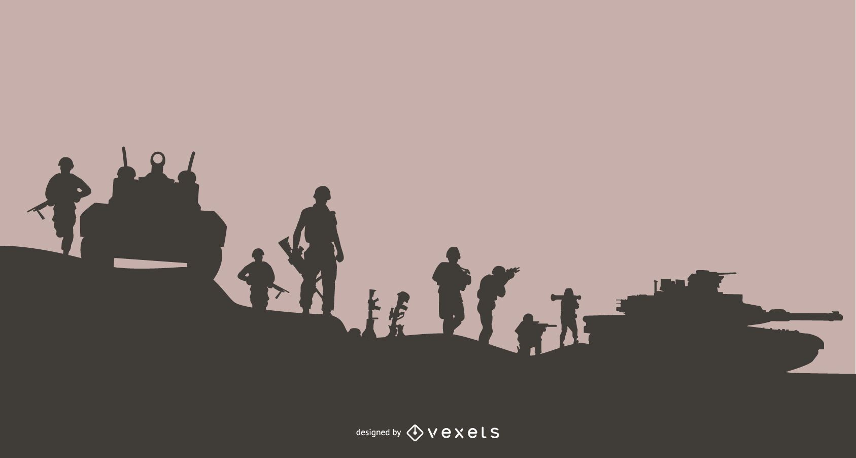 Military Mission Silhouette Background