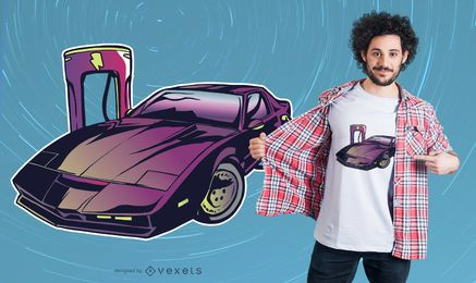 Design de camiseta com carregador de carro elétrico