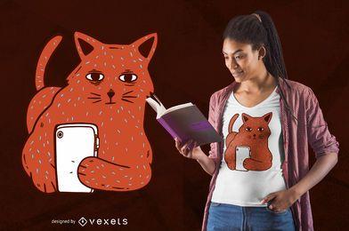 Design de t-shirt do gato Selfie