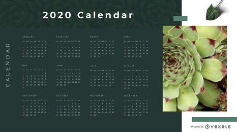 Design de calendário Eco Nature 2020
