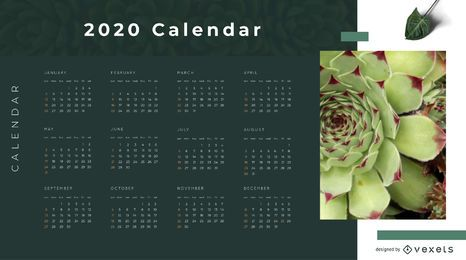 Diseño de calendario Eco Nature 2020