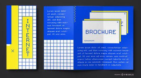 90er Jahre Internet Broschüre Vorlage