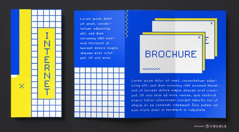 90s internet brochure template