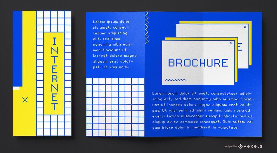 Plantilla de folleto de internet de los 90