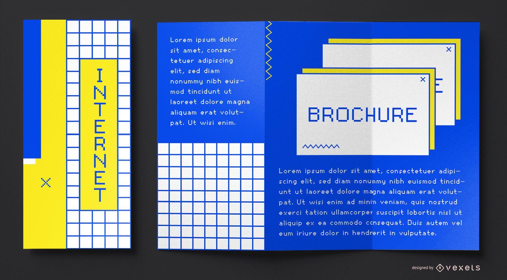90s internet brochure template