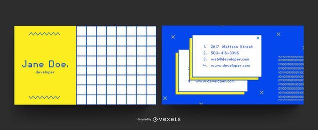 Cartão de visita do internet 90s