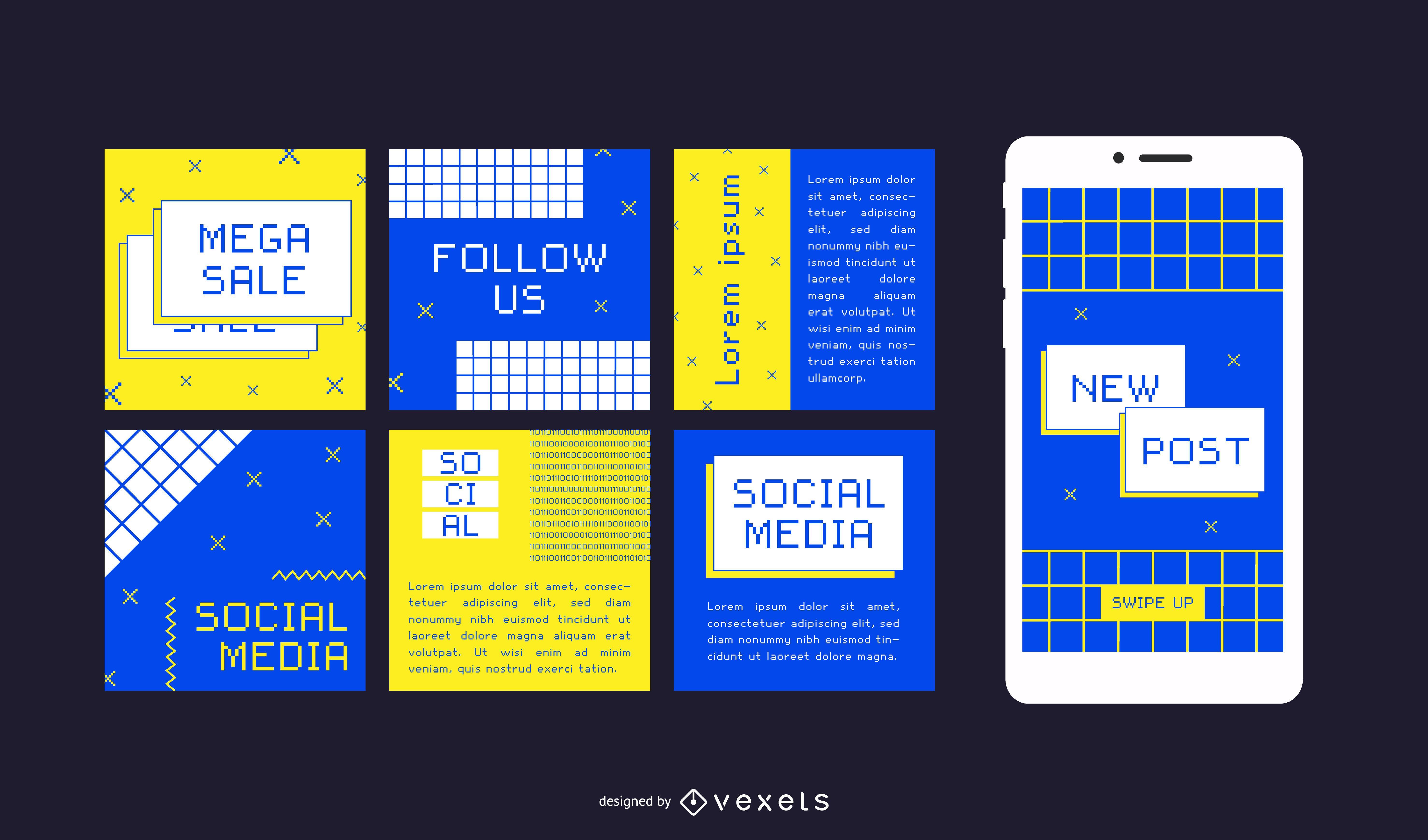 Publicaciones en redes sociales de Internet de los noventa