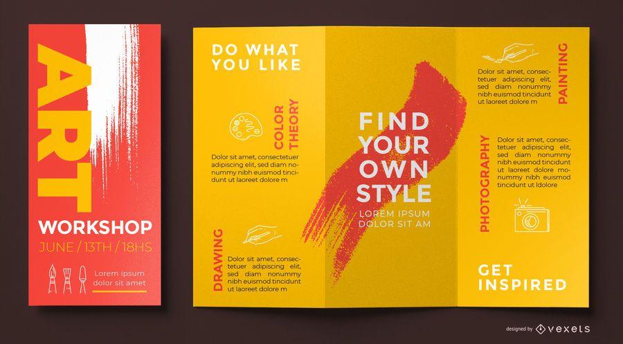 Art workshop brochure template