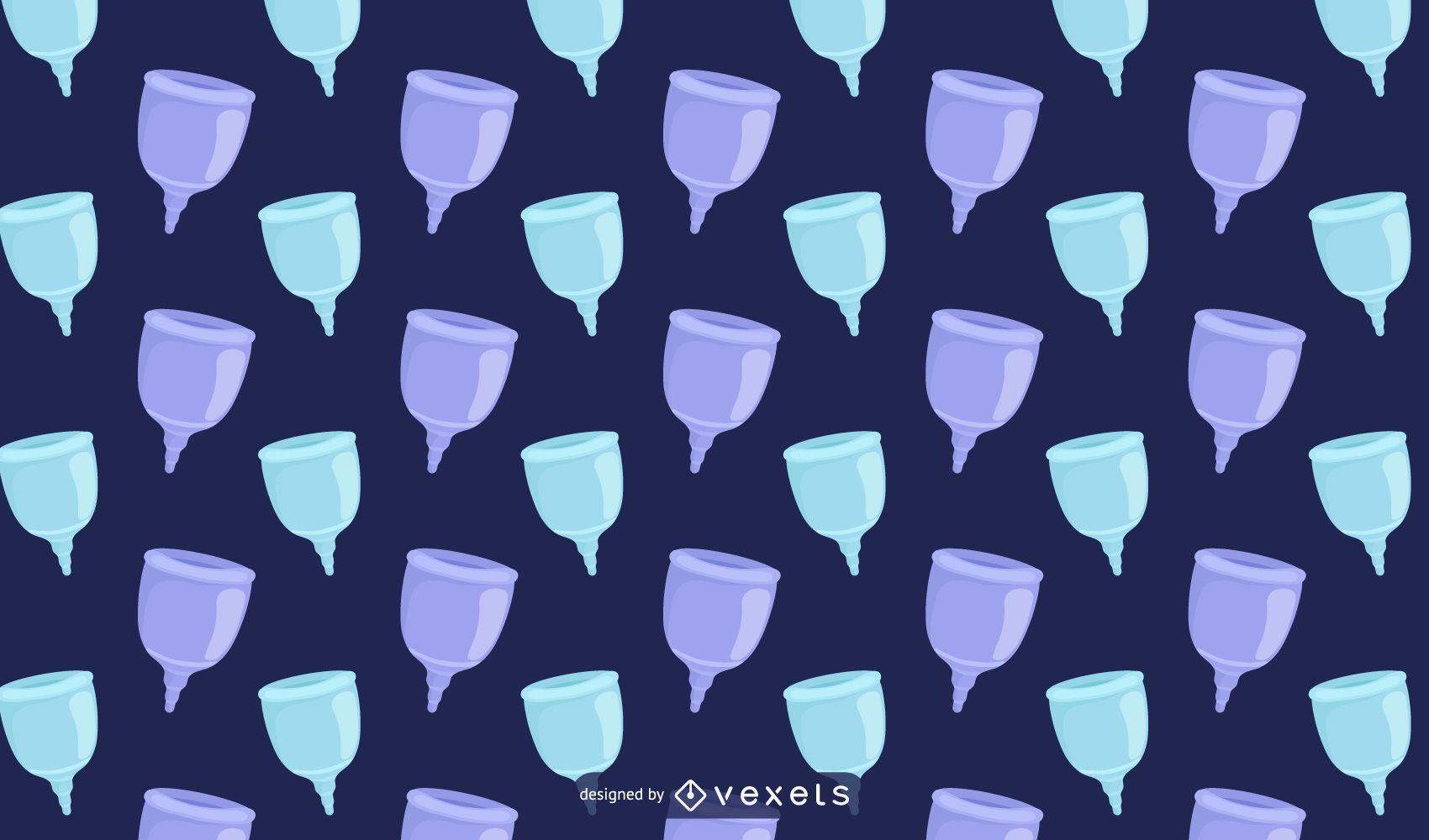 Ecologic menstrual cup pattern design