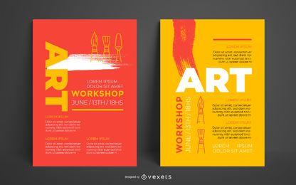 Modelo de cartaz - oficina de arte