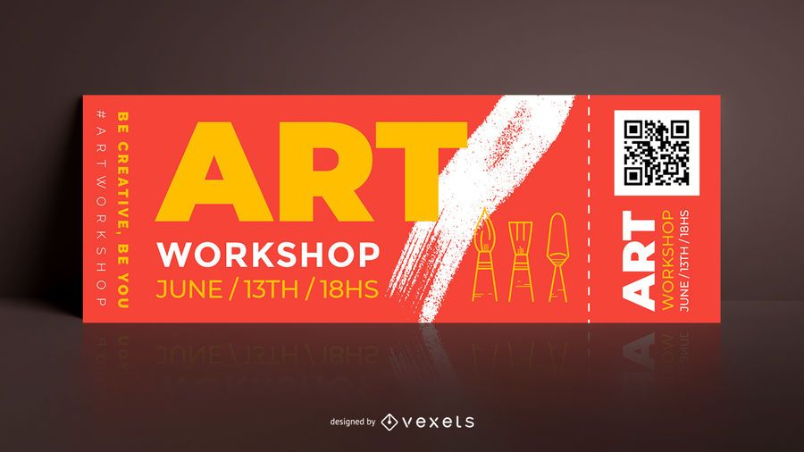 Art workshop editable ticket