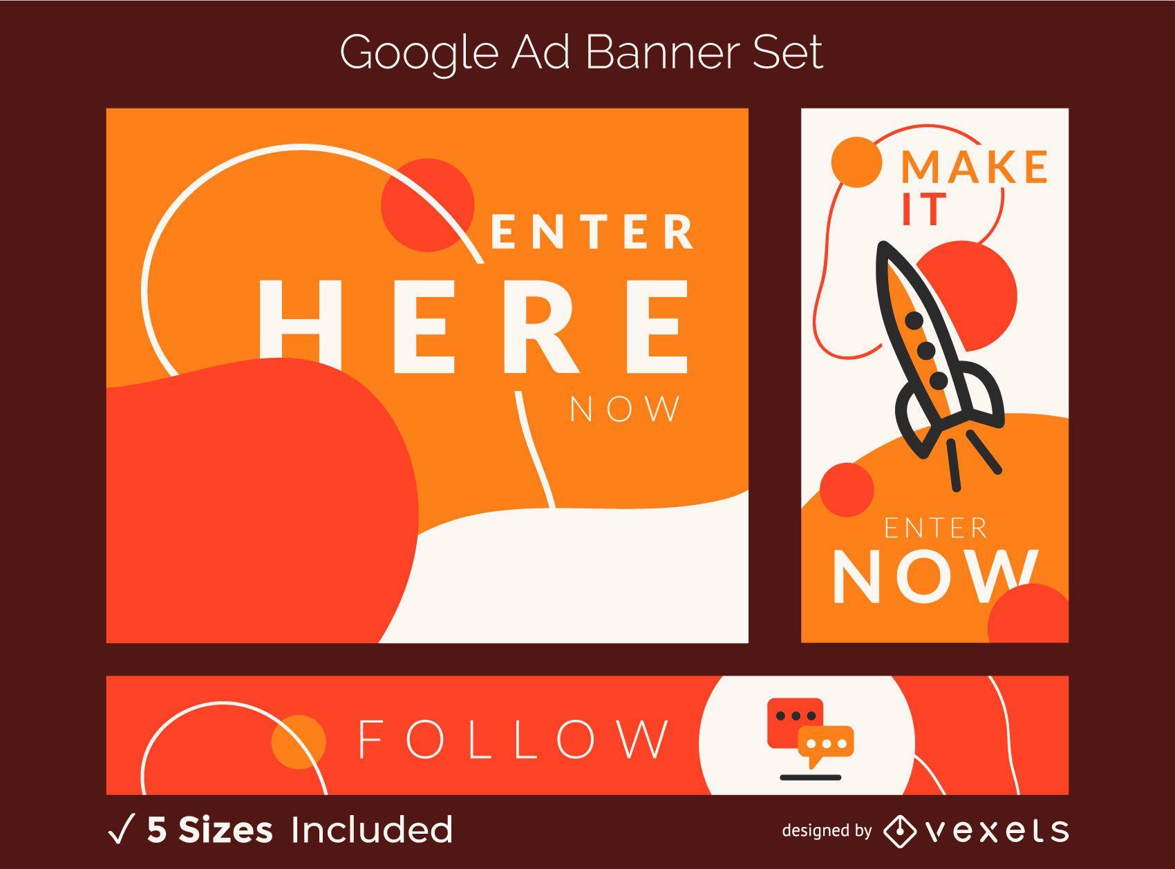 Creative flow ad banner set