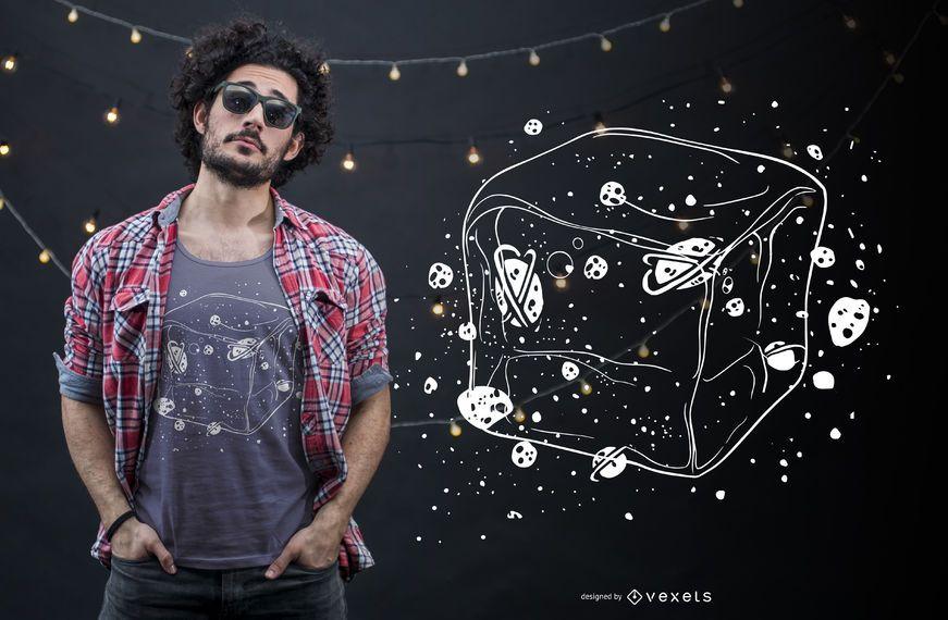 Design de t-shirt de espaço de gelo