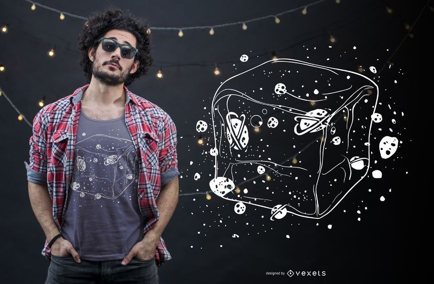 Ice space t-shirt design