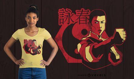 Diseño de camiseta de Wing Chun