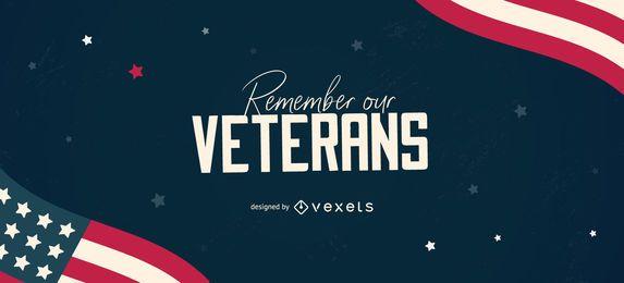 Diseño deslizable editable para veteranos