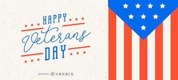 Diseño deslizante del día de los veteranos