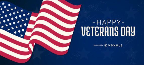 Design de controle deslizante do Dia dos Veteranos nos EUA