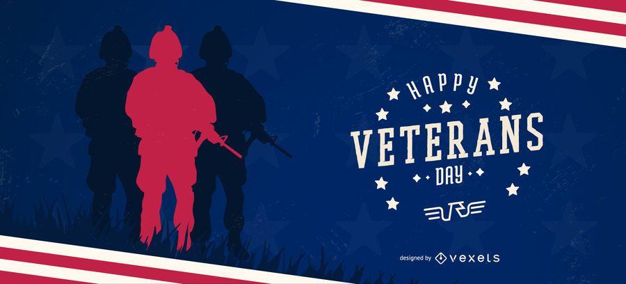 Plantilla de control deslizante feliz día de los veteranos
