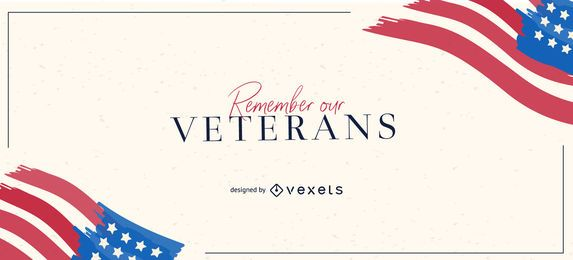Remember our veterans slider design