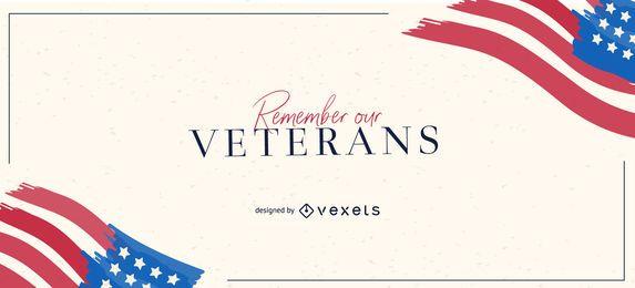 Remember our veterans slider design
