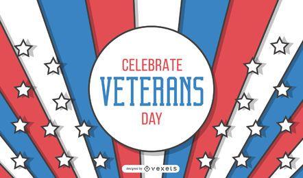 Diseño de banner del día de los veteranos