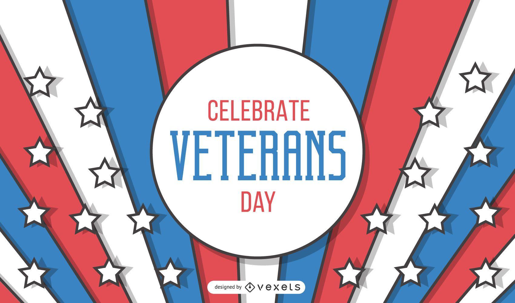 Desenho de banner do dia dos veteranos