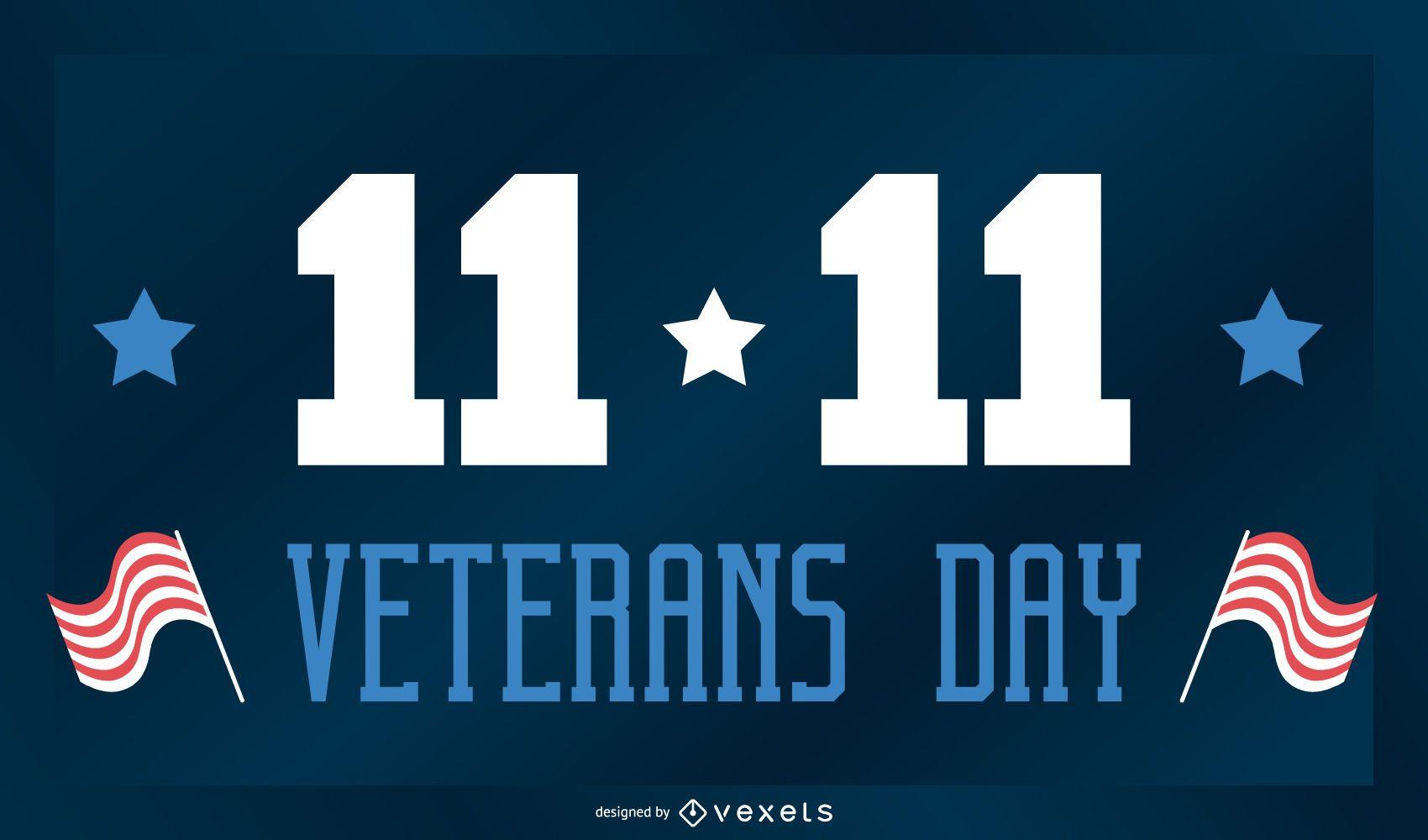 Banner de vacaciones del día de los veteranos