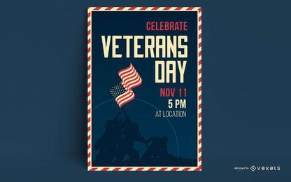 Veterans Day Plakat Vorlage