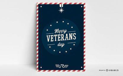 Feliz dia dos veteranos pôster