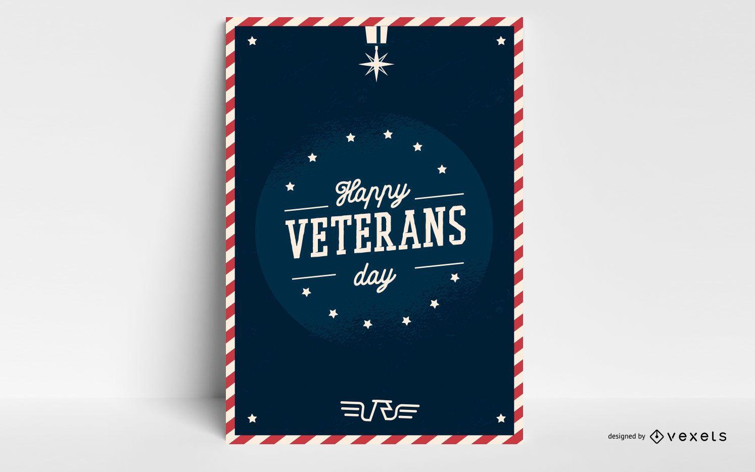 Happy veterans day poster