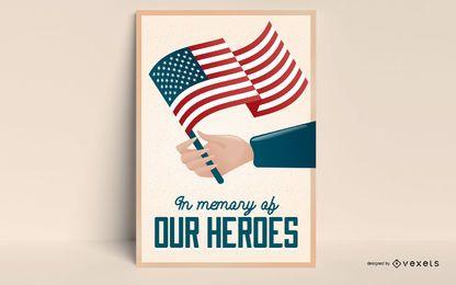 Cartel editable del día de los veteranos