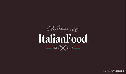 Italienisches Restaurant Logo Vorlage
