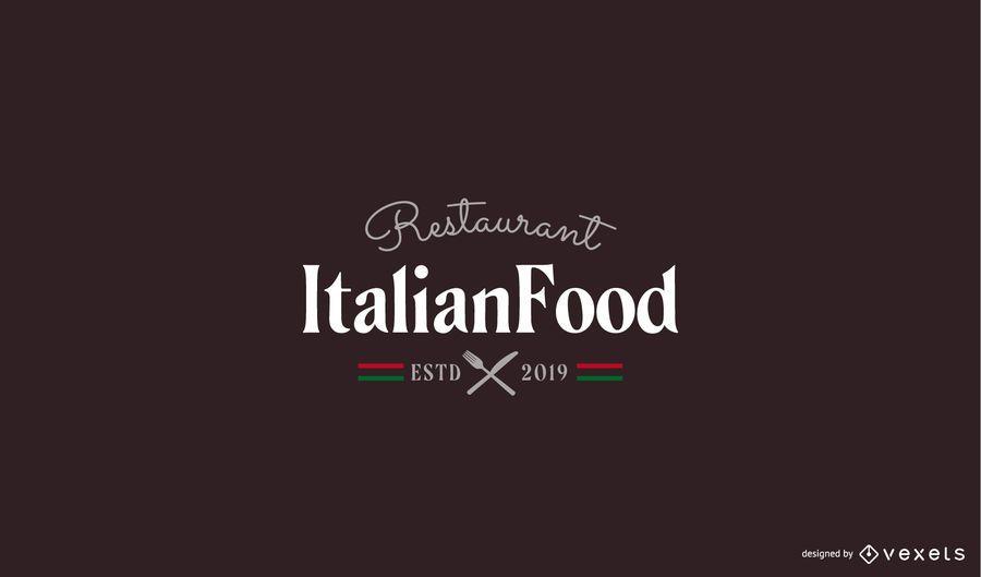 Plantilla de logotipo de restaurante italiano